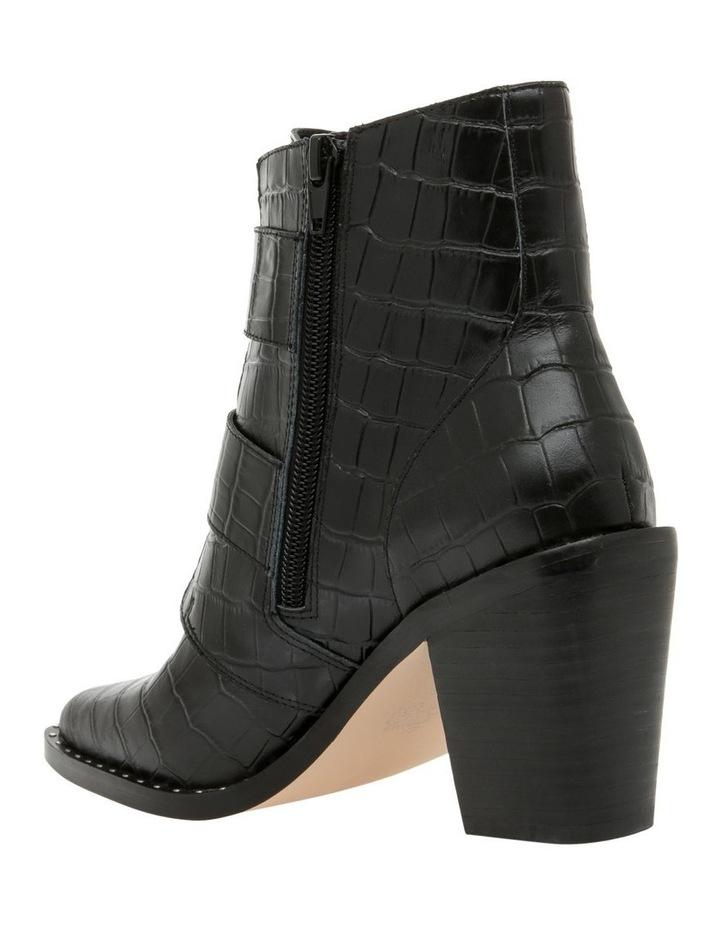Jess Black Croc Emboss Leather Boot image 2