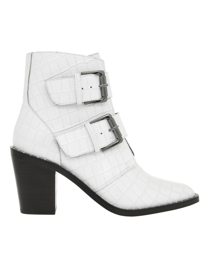 Jess White Croc Emboss Leather Boot image 1