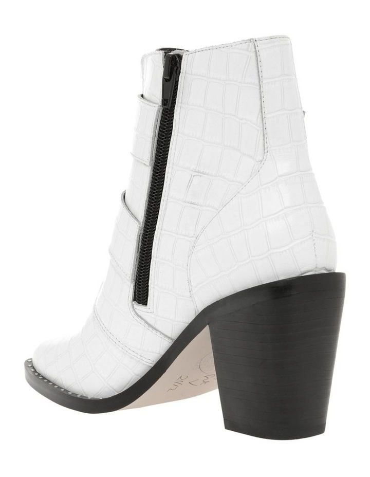 Jess White Croc Emboss Leather Boot image 2
