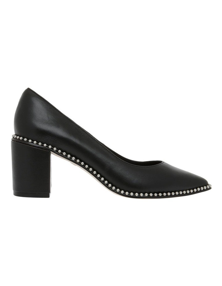 HUBBA BLACK LEATHER PUMP image 1