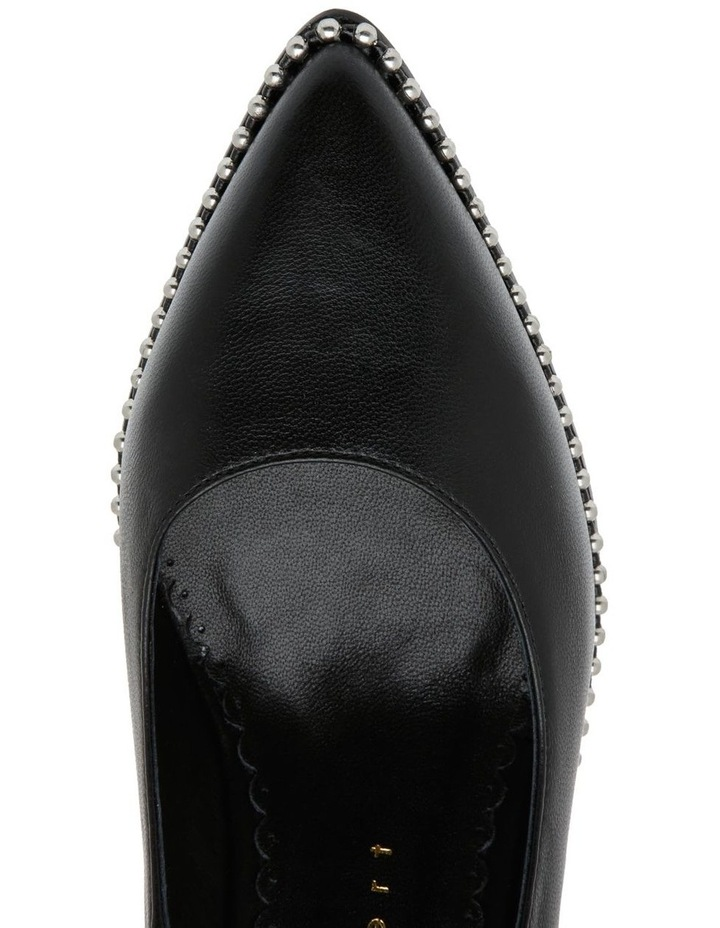 HUBBA BLACK LEATHER PUMP image 3