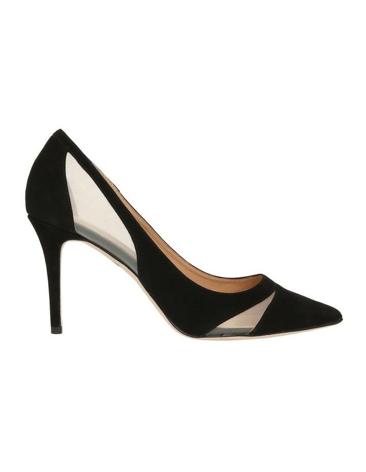 Bella Black Suede Heeled Shoe image 1