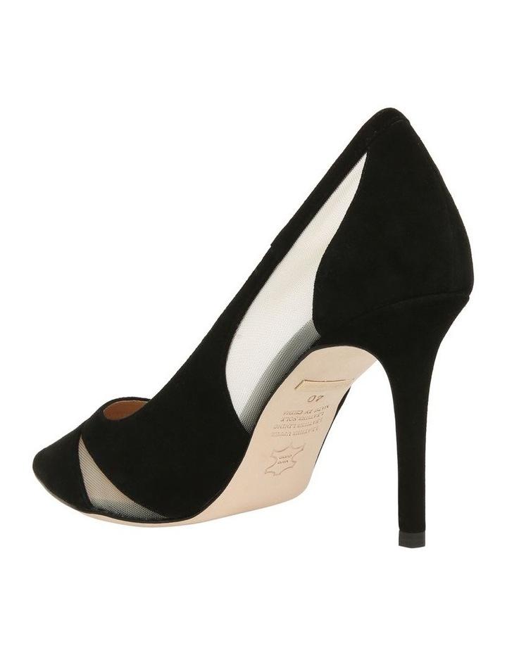 Bella Black Suede Heeled Shoe image 2