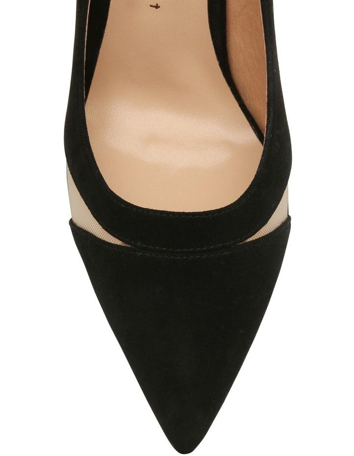 Bella Black Suede Heeled Shoe image 3