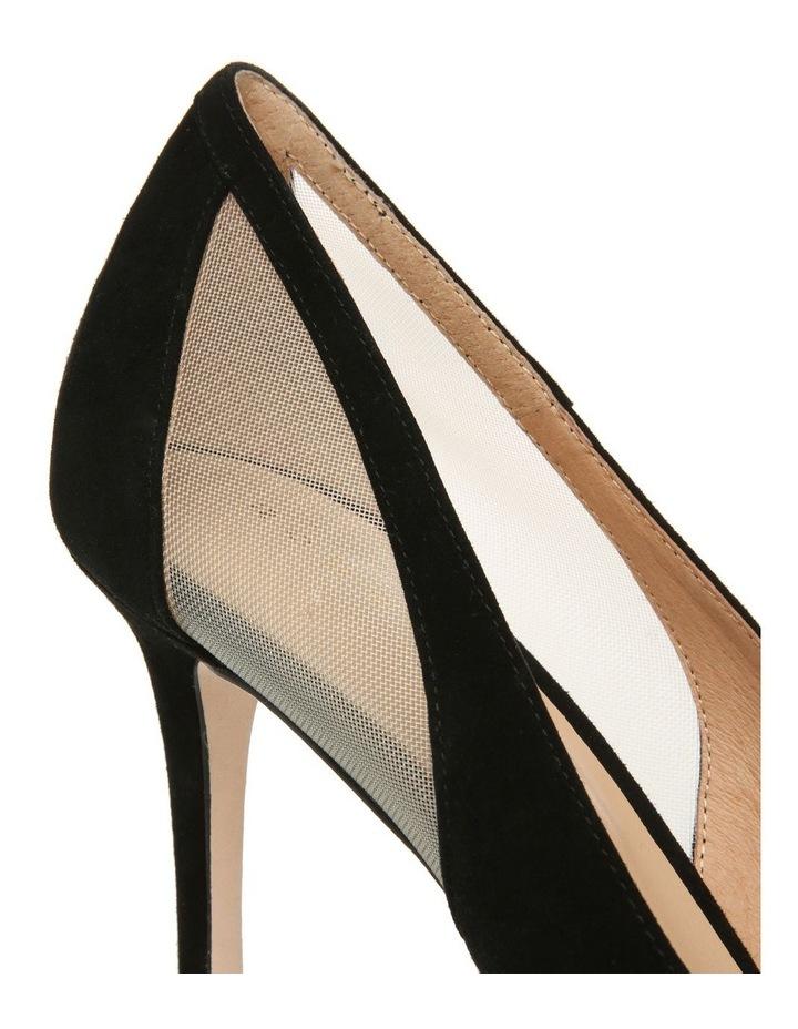 Bella Black Suede Heeled Shoe image 4