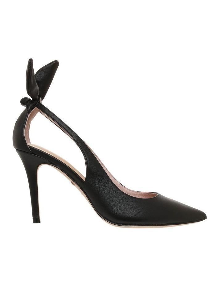 Bunny Black Leather Heeled Shoe image 1