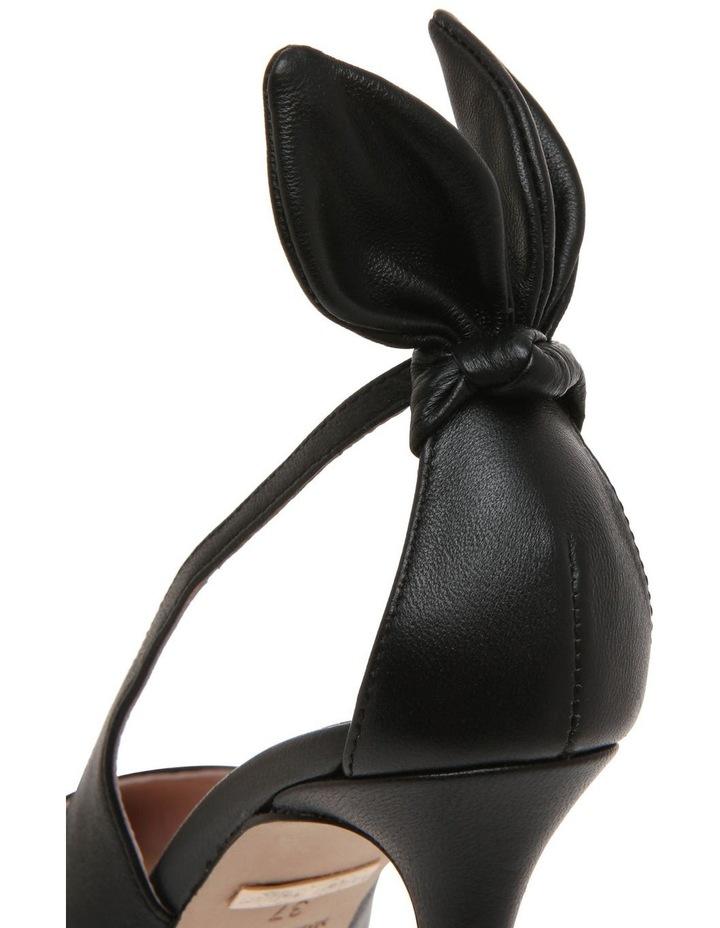 Bunny Black Leather Heeled Shoe image 3