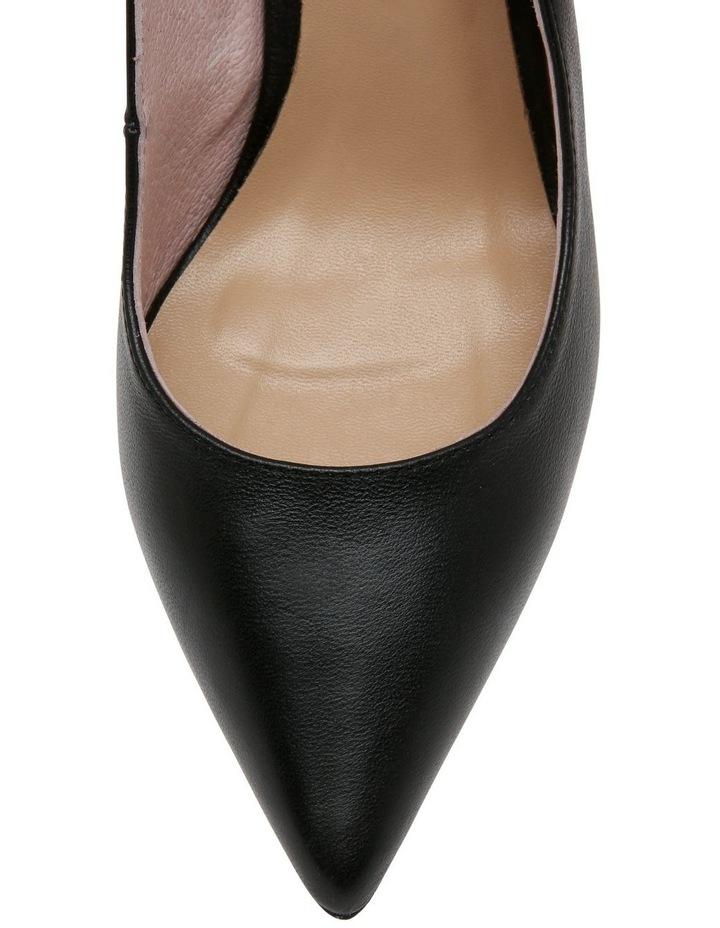 Bunny Black Leather Heeled Shoe image 4
