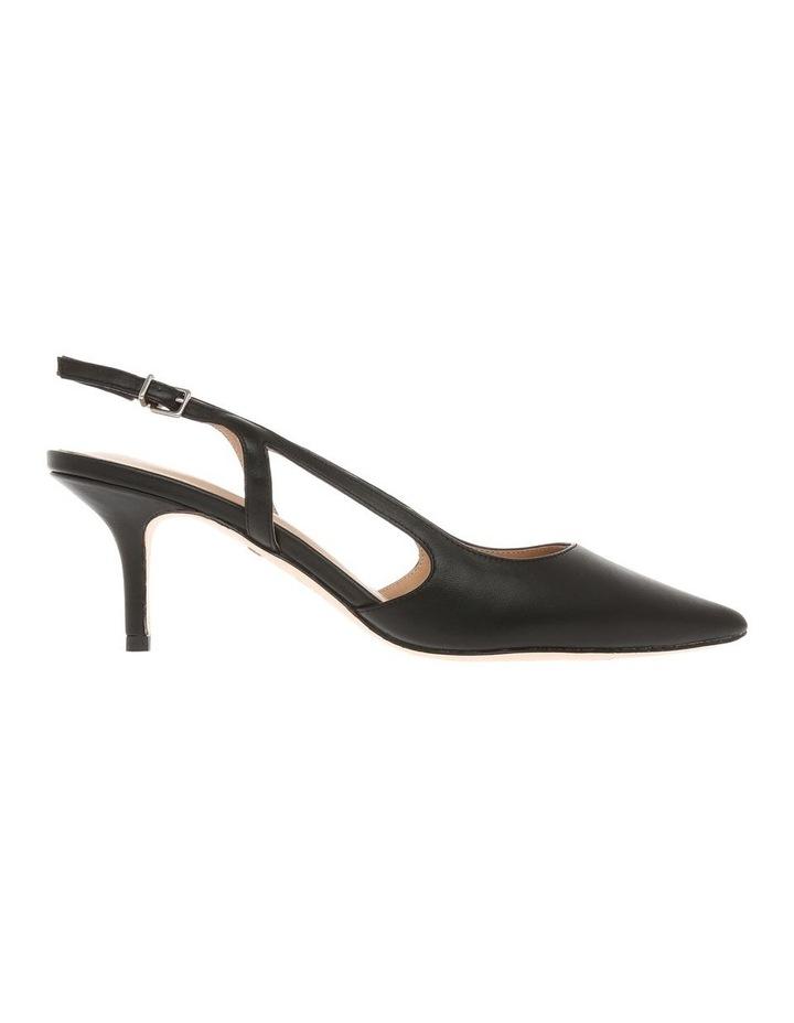 Cleo Black Leather Heeled Shoe image 1