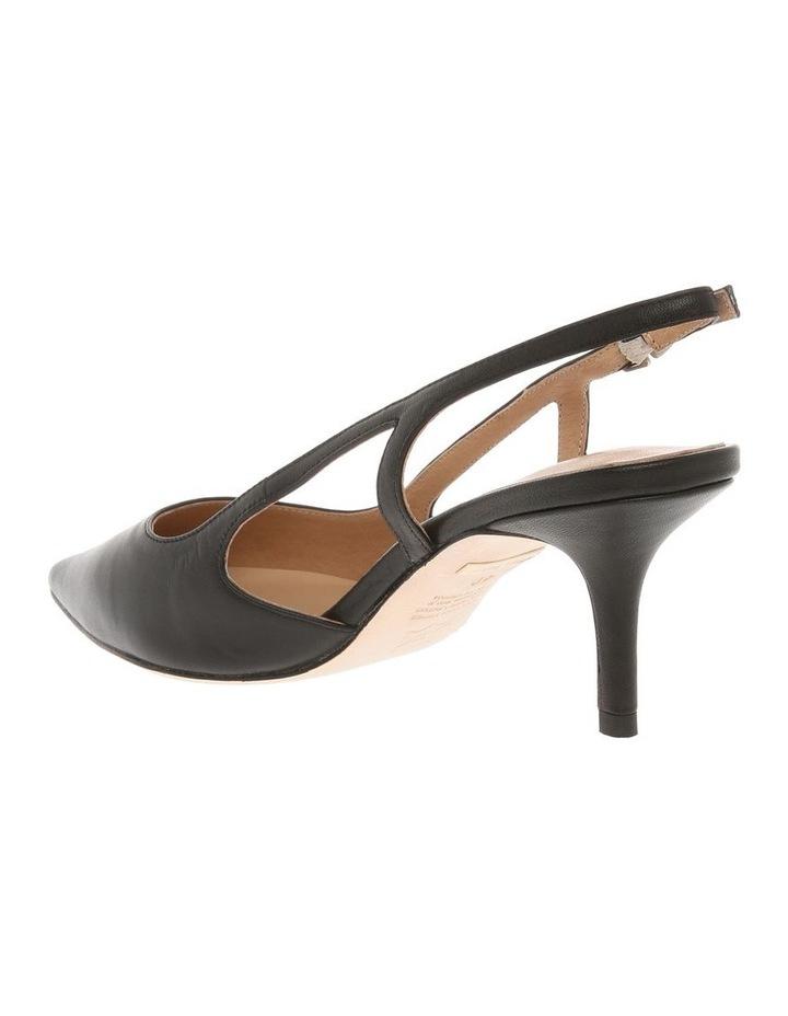 Cleo Black Leather Heeled Shoe image 2