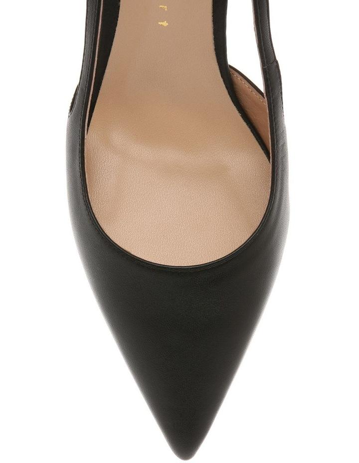 Cleo Black Leather Heeled Shoe image 3