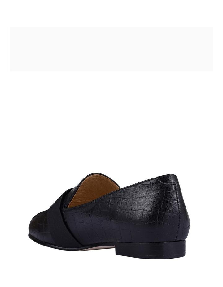 Theresa Black Croc Flat Shoes image 2