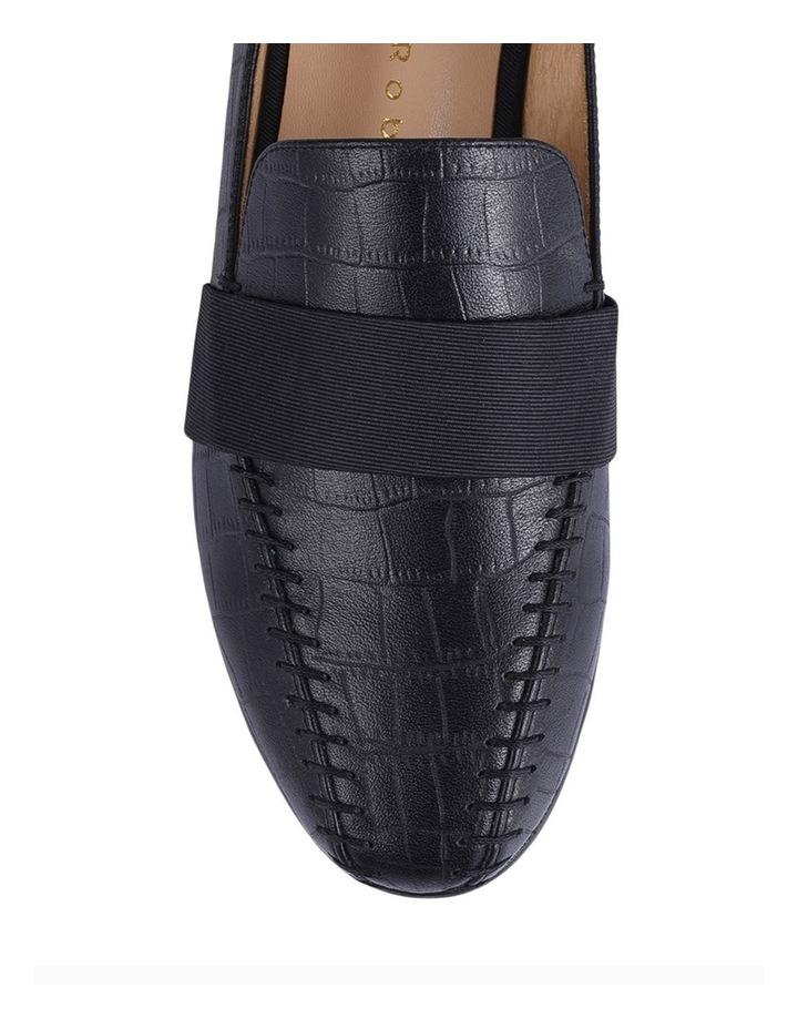 Theresa Black Croc Flat Shoes image 3