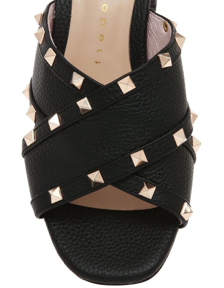 Gina Black Leather Sandal image 3