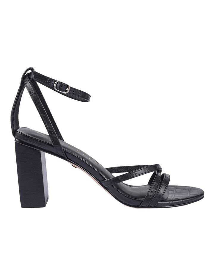 Helen Black Croc Emboss Sandal image 1
