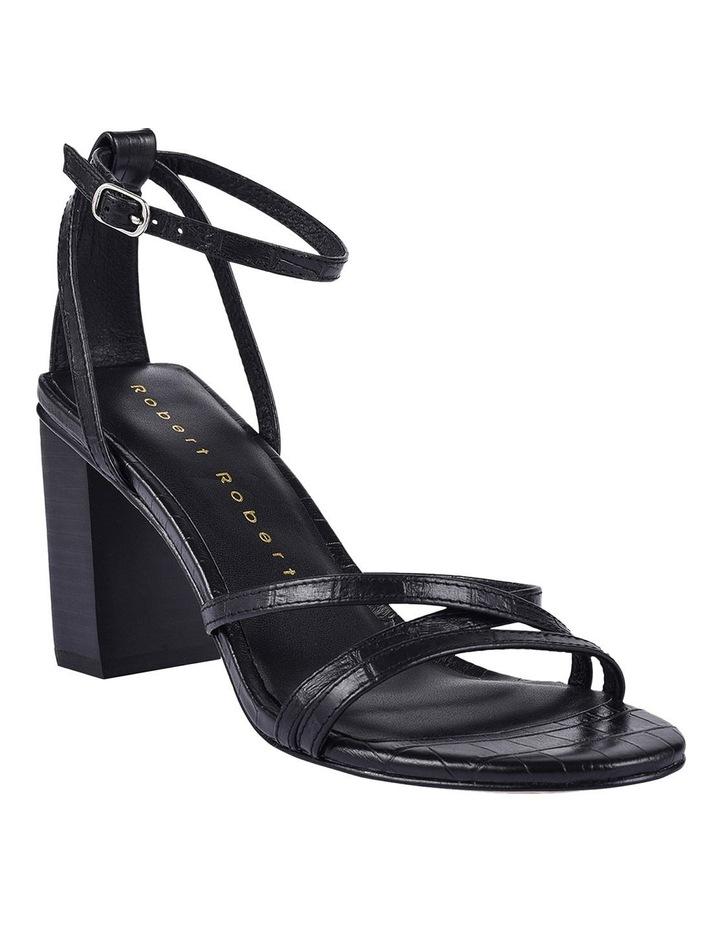Helen Black Croc Emboss Sandal image 2