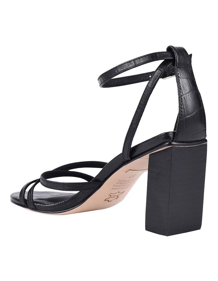 Helen Black Croc Emboss Sandal image 4