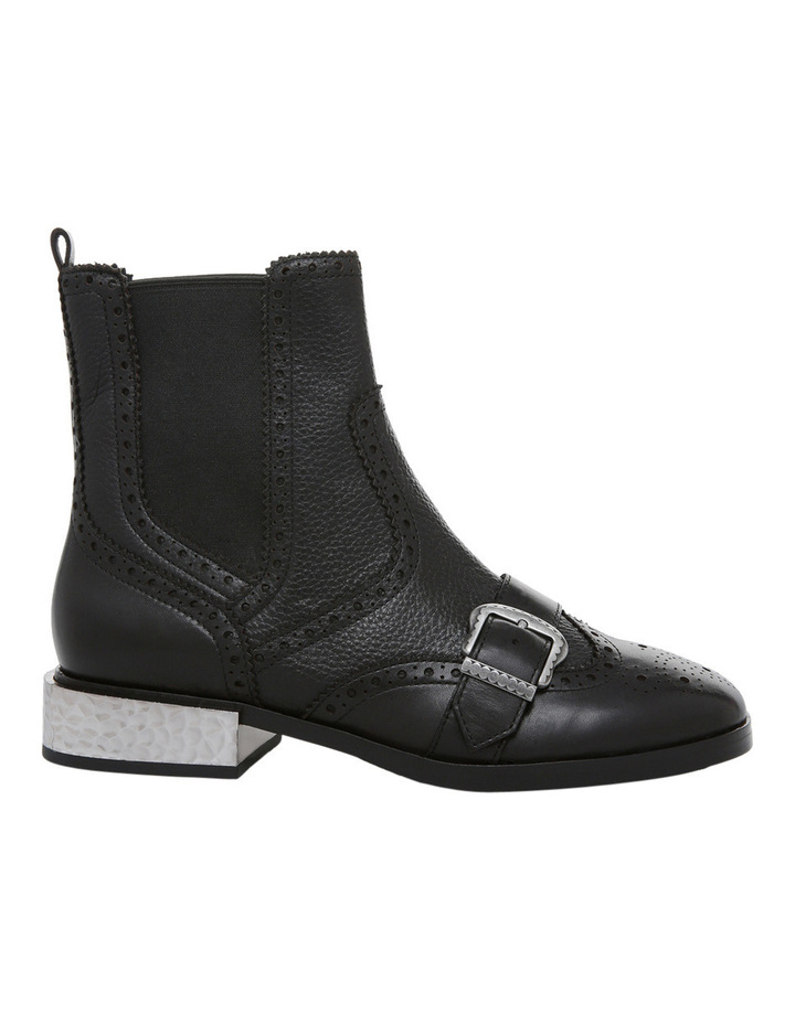 Face Black with Buckle/Heel Old Silver Boot image 1
