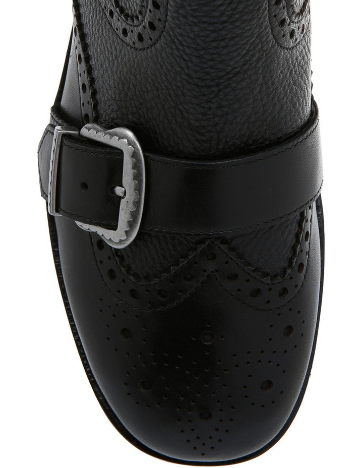 Face Black with Buckle/Heel Old Silver Boot image 3