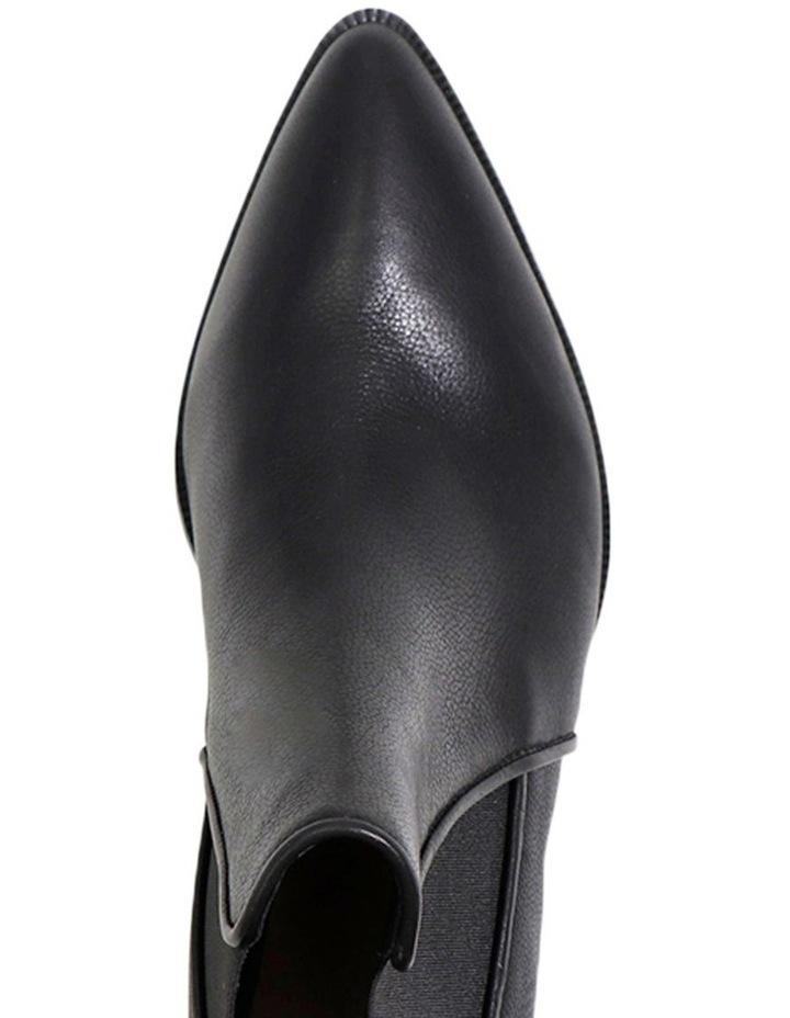 Lyon Black Leather Boot image 3