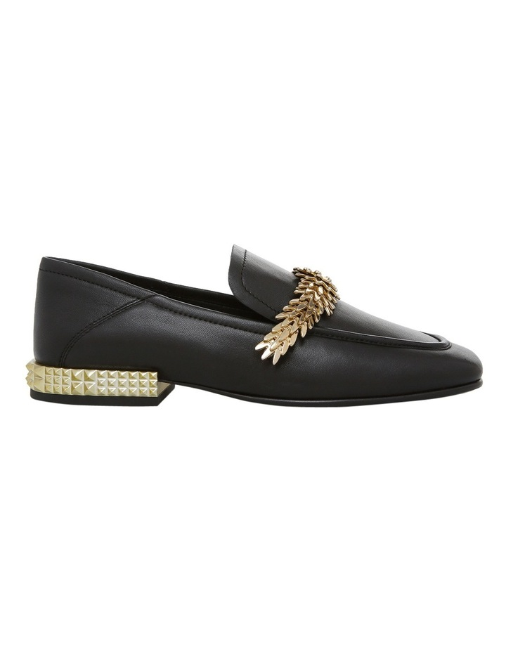 Edgy Black with Chain/Metal Heel Ariel Gold Pump image 1