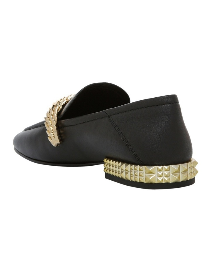 Edgy Black with Chain/Metal Heel Ariel Gold Pump image 2
