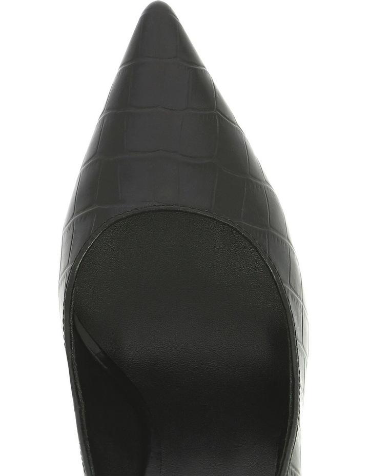 MARGOT BLACK CROC PUMP image 3