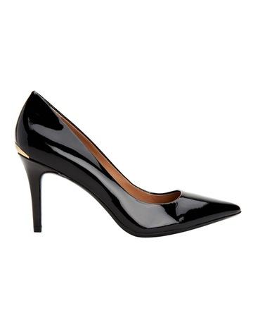 3e378263a1 Calvin Klein GAYLE BLACK PATENT PUMP. price. Was$249.95