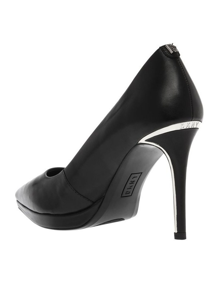 K3906352 Lexi Black Nappa Heeled Shoe image 2