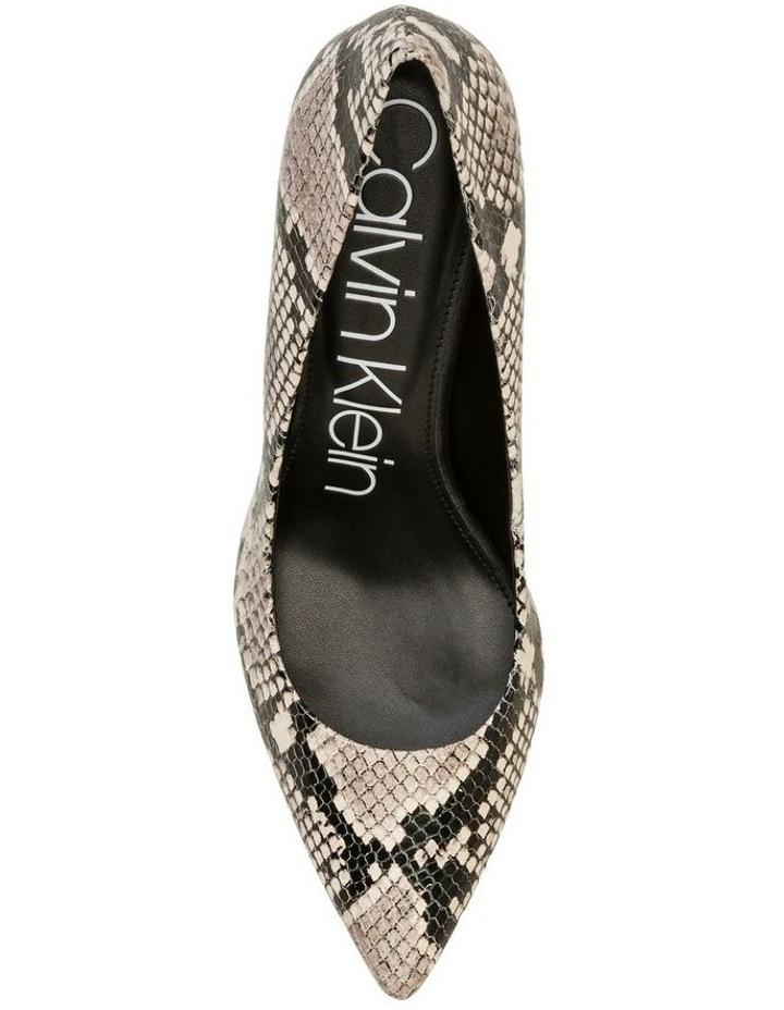 Gayle Natural Snake Heeled Shoe image 2