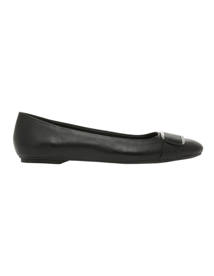 Oneta Black Shiny Lizard Flat Shoe image 1