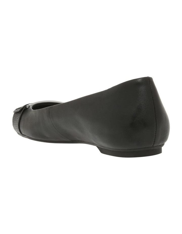 Oneta Black Shiny Lizard Flat Shoe image 2