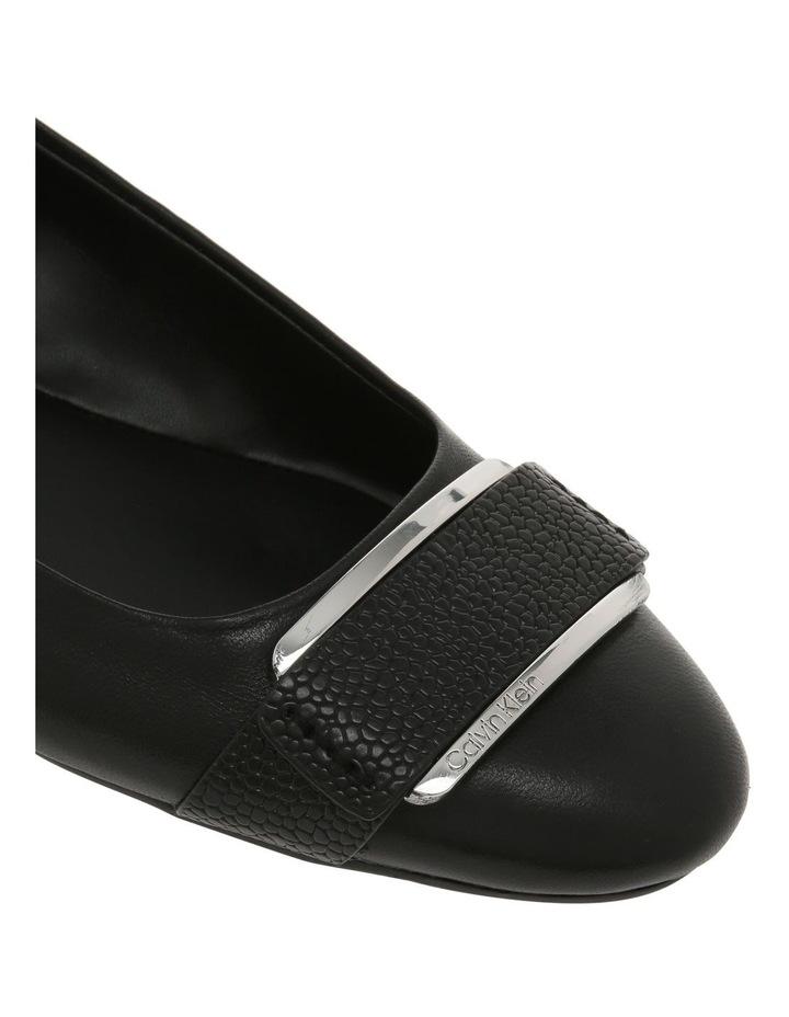 Oneta Black Shiny Lizard Flat Shoe image 3
