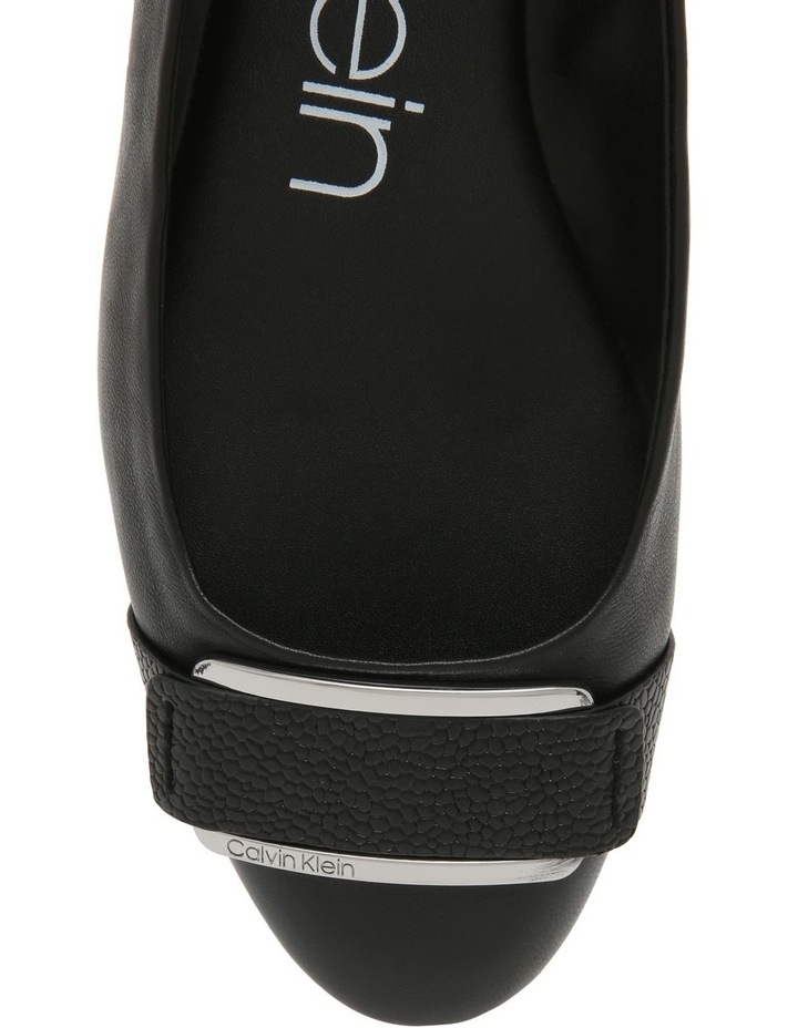 Oneta Black Shiny Lizard Flat Shoe image 4