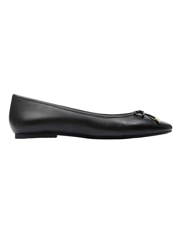 Flower Black Flat Shoe image 1