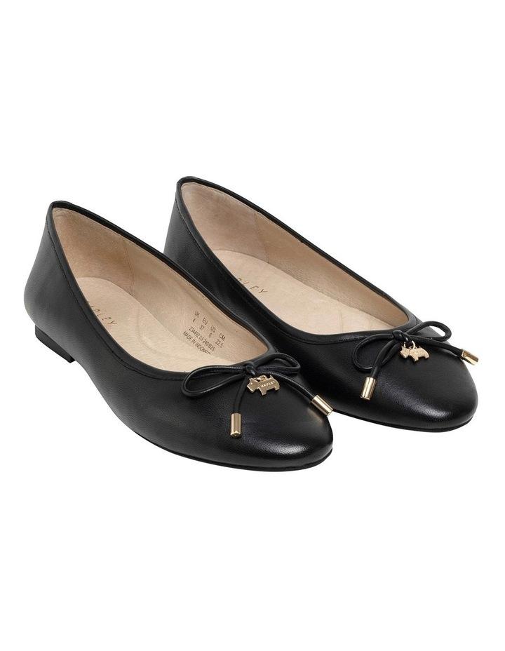 Flower Black Flat Shoe image 2