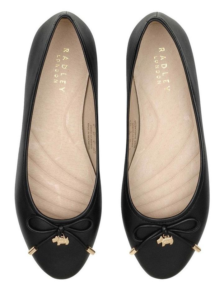 Flower Black Flat Shoe image 3