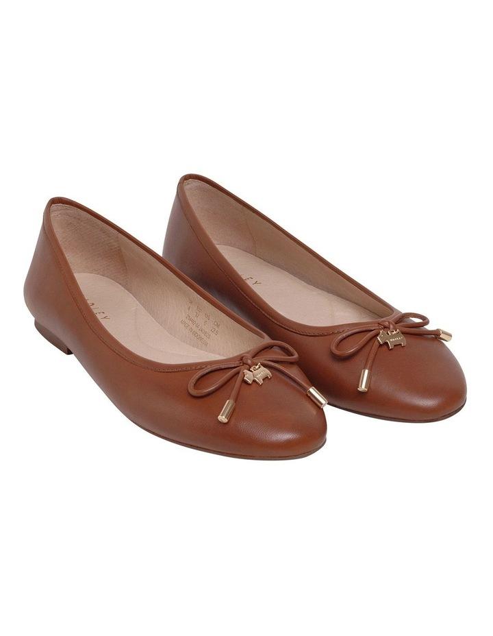 Flower Tan Flat Shoe image 2