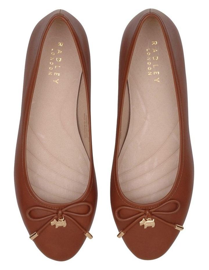 Flower Tan Flat Shoe image 3