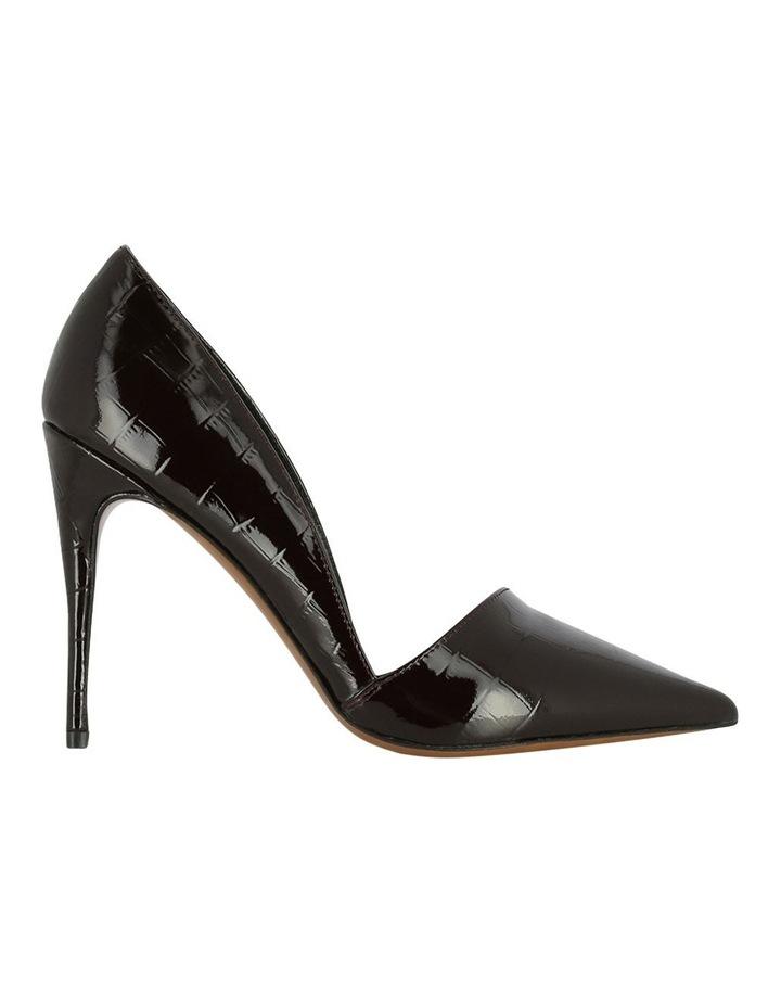 Iris Burgundy Croc Heeled Shoe image 1