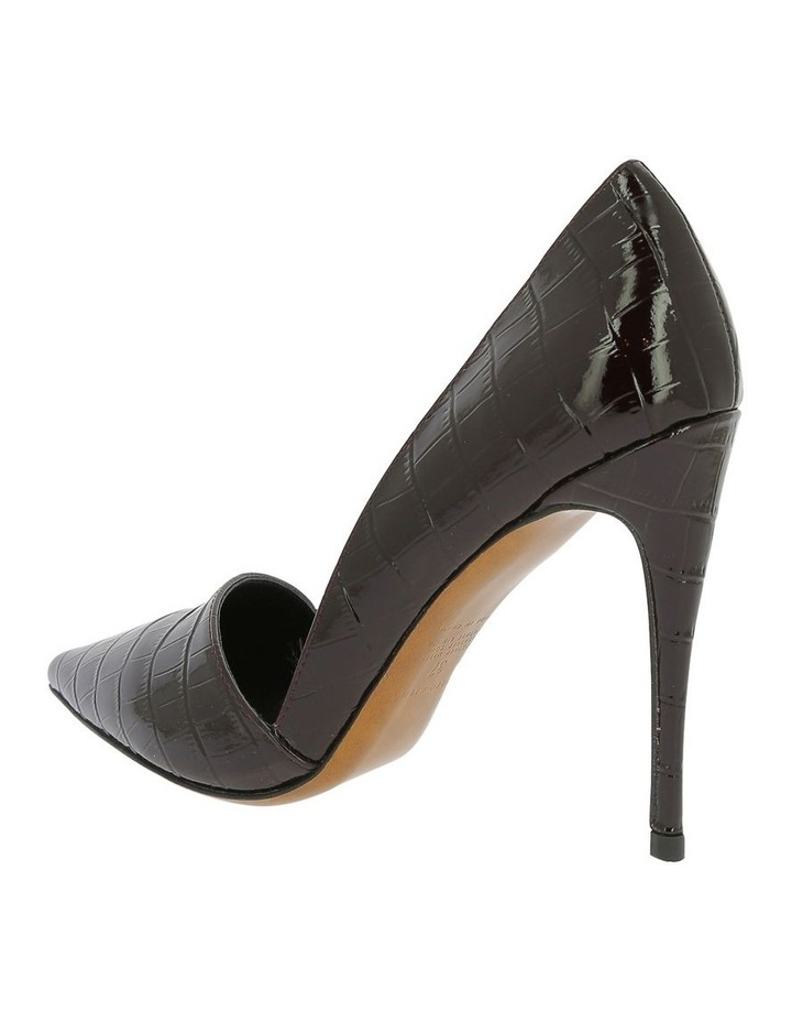 Iris Burgundy Croc Heeled Shoe image 2