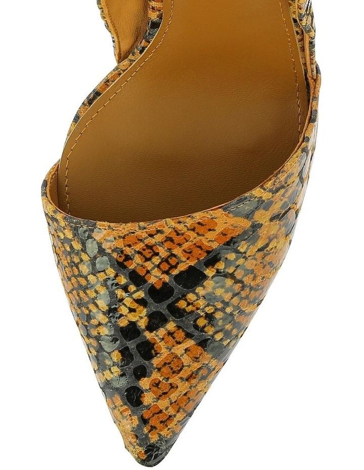 Iris Tan Snake Heeled Shoe image 3