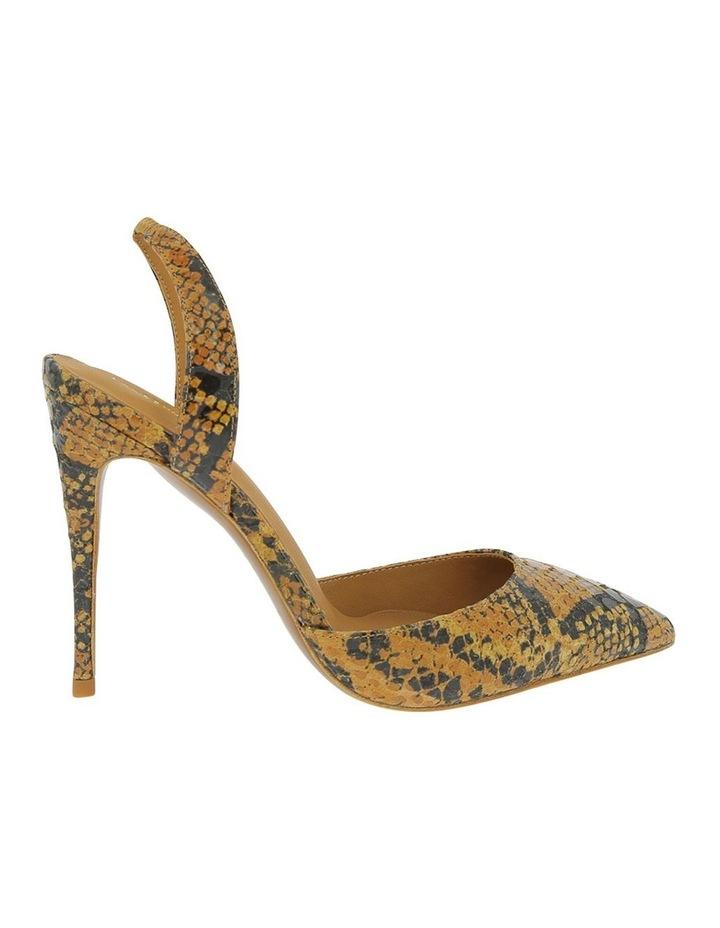 Dahlia Tan Snake Heeled Shoe image 1