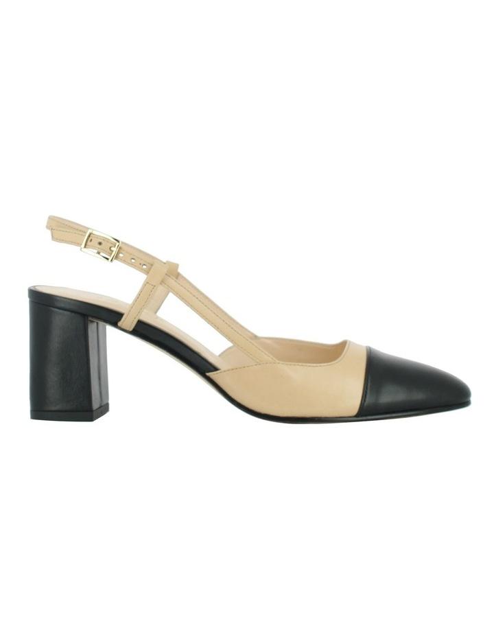 Dhapop Noir/Beige Heeled Shoe image 1