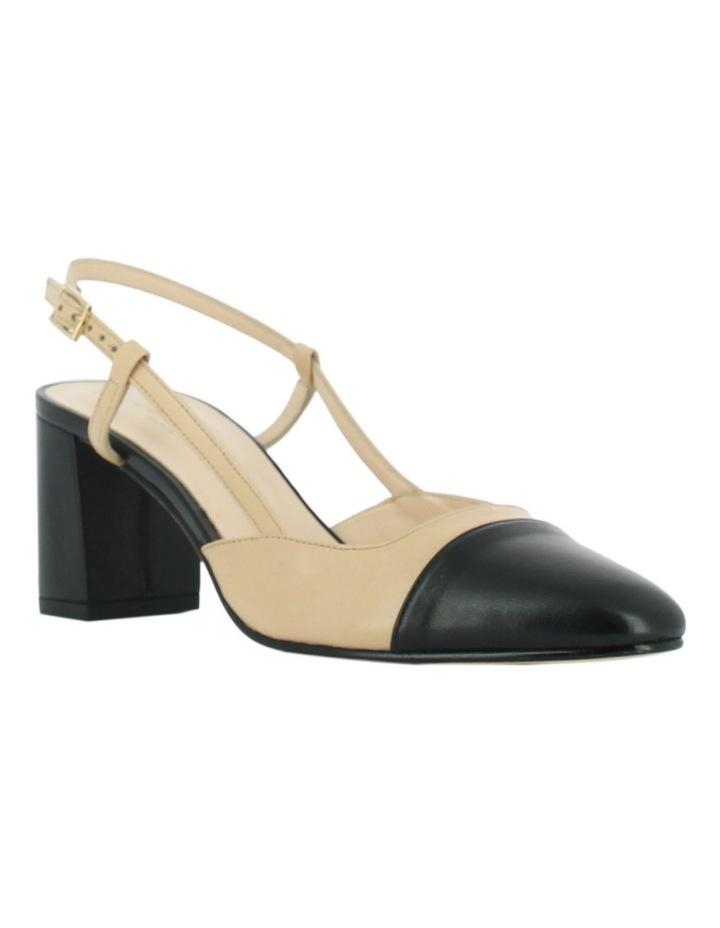 Dhapop Noir/Beige Heeled Shoe image 2