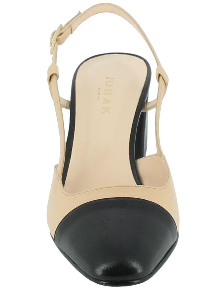 Dhapop Noir/Beige Heeled Shoe image 3