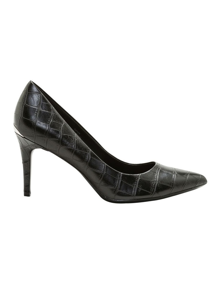 Gayle Black Croc Heeled Shoes image 1