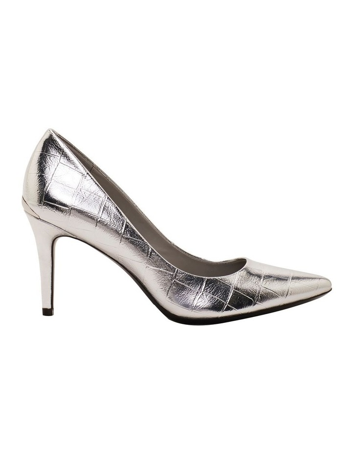 Gayle Silver Croc Heeled Shoes image 1