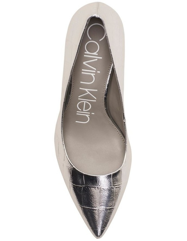 Gayle Silver Croc Heeled Shoes image 3