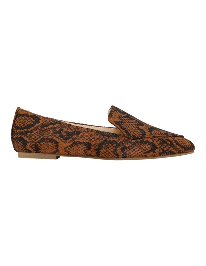 Marco Chocolate Snake Flat Shoes image 1